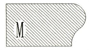 Фреза алмазная профильная M гранит спечная Diam-S