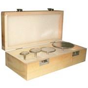 Комплект торцевых малых алмазных фрез DIS хвостовик 6 мм -  4 шт. гальваника