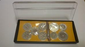 Комплект торцевых малых алмазных фрез DIS хвостовик 2 мм -  9 шт. гальваника