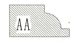 Фреза алмазная профильная АA гранит спечная сегментная Diam-S