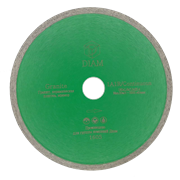 Диск отрезной по керамограниту/граниту/плитке (d. 125мм) сплошной/тонкий DIAM Granite Корона [22,2 мм]