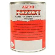 Клей для мрамора Polysoft кремообразный AKEMI прозрачный с медовым оттенком, 1 л (10481)